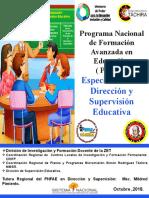 Presentación Pnfa Supervision y Dirección Educativa Mildre Octubre 2018