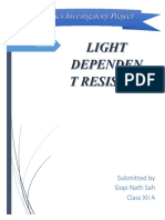 Physics Investigatory Project LIGHT DEPE