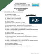 TD N 3 Calcul Des Structures