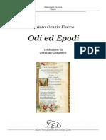(Classici Latini) Orazio - Odi Ed Epodi