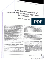 1 Value Added Sustainable Use of Recycled and Secondary Aggregate in Concrete