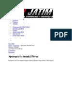 Sekreng Suzuki Forsa Dan Komponennya