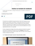Como Fazer Símbolos No Teclado Do Notebook _ Teclados _ TechTudo