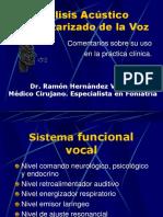 Analisis Acustico Computarizado de la Voz