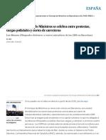 Directo _ El Consejo de Ministros Se Celebra Entre Protestas, Cargas Policiales y Cortes de Carreteras _ España _ EL PAÍS