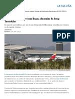 El Aeropuerto de Barcelona Llevará El Nombre de Josep Tarradellas _ Cataluña _ EL PAÍS