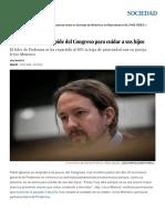 Pablo Iglesias Se Despide Del Congreso Para Cuidar a Sus Hijos _ Sociedad _ EL PAÍS