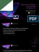 ZN17_DoroshenkoYuS_Open Source Sandbox in a Corporate Infrastructure