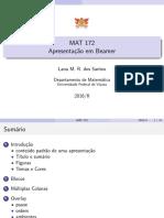 Slidesbeamer - MAT 172 - 2016-II