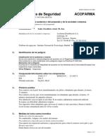Datos de Seguridad Acofarma,Tiosulfato Sodico