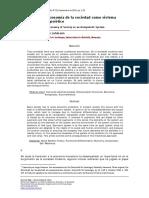 Luhmann - La Economia de La Sociedad Como Sistema Autopoietico - Revista Mad - 2013-Libre