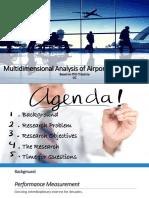 Multidimensional Analysis of Airport Performance SIA