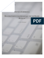 Hosted E-commerce - Building Competitive Advantage for the Online Retailer