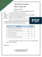 Informe Examen de Subsanación 2018