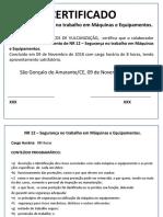 Modelo.certificado de NR 12