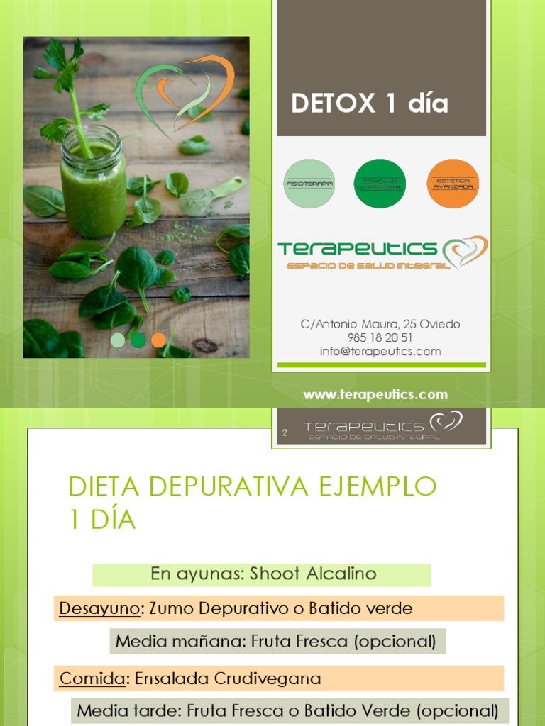 Dieta depurativa fruta 1 dia
