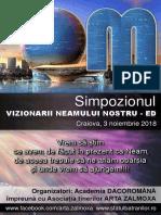"""Revista Simpozionului """"Vizionarii Neamului nostru - ED"""", Prima Ediție"""
