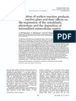 Formation of Surface Reactions on Bioactive Glass and Their Effects on the Expression of the Osteoblastic Fenotipe[1]