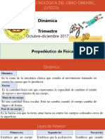 Dinamica. Propedeutico de Fisica. Octubre-diciembre 2017