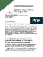 Cómo Se Escriben y Se Publican Trabajos Científicos