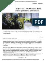 """""""Gilets jaunes"""" et lycéens - l'IGPN sai...ires de violences policières présumées"""