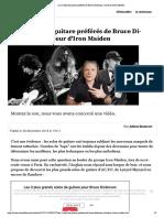 Les 3 solos de guitare préférés de Bruce Dickinson, chanteur d'Iron Maiden