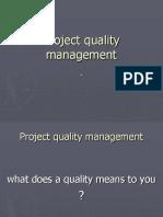 3. Project Quality Management(1)