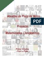 Maternidades Clandestinas - Primer Informe