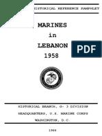 Marines in Lebanon 1958