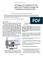 The Study and Design of a System for the Capture of Diesel Soot Particles Through the Chemical Treatment of Exhaust Gas