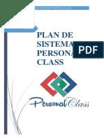 Plan de Sistemas Personal Class