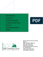 nutrtional sciences report spring 2018
