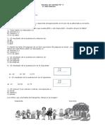 1° Prueba de Matemática Unidad 7 Números Ordinales y Sustracciones con reserva (Autoguardado)