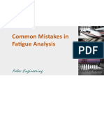 Common Mistakes in Fatigue Analysis