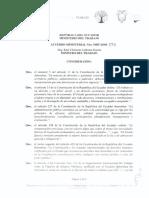 Acuerdo Ministerial por salario básico 2019