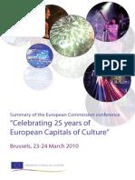 Capitals Culture 25 Years Conclusions En