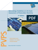 Task 12 - Methodology Guidelines on Life Cycle Assessment of Photovoltaic Electricity 3rd Edition