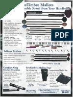 Handbell Mallet Chart