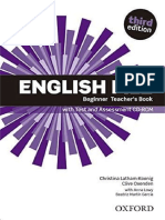 English File – Third Edition – Beginner Teacher's Book Full Edition. Editora Oxfrod University Press