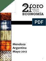 Relatoría 2° Foro  hacia otra economía