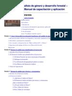 Análisis de Género y Desarrollo Forestal. Manual. FAO Muy Bueno
