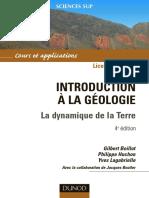 Introduction à la géologie - La dynamique de la terre..pdf