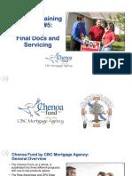 Chenoa Fund Training #5 - Final Docs Servicing