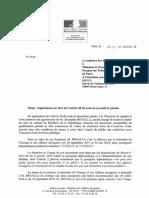 Signalement Au Titre de l'Article 40 Du Code de Procédure Pénale