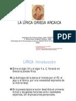La Lírica Griega Arcaica2018