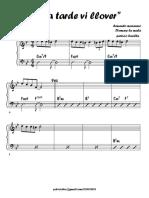 Esta Tarde Vi Llover - Piano