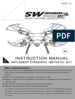 SW explorers remote control quadcopter instruction manual