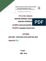 Medicina indígena tradicional y medicina convencional