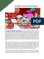 Cara Daftar Poker IDNPLAY Terbaru 2019