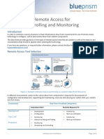 Blue Prism Data Sheet - Remote Access Tools